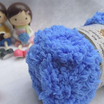 terry towel yarn blue