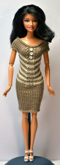 Barbie-knitted-fitted-dress-pattern